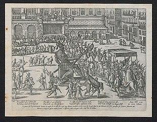 Intocht van de hertog van Anjou te Antwerpen op 22 februari 1582