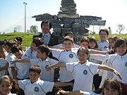 Niños de la escuela en Monterrey, Nuevo León.