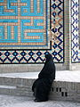 Iranian alone woman - sited near Mohammad Al Mahruq Mosque - Nishapur 1.jpg
