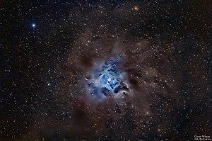 "Iris Nebula - RGB image of The Iris Nebula NGC 7023 taken with a 5"" apochromatic refractor and a DSLR camera"