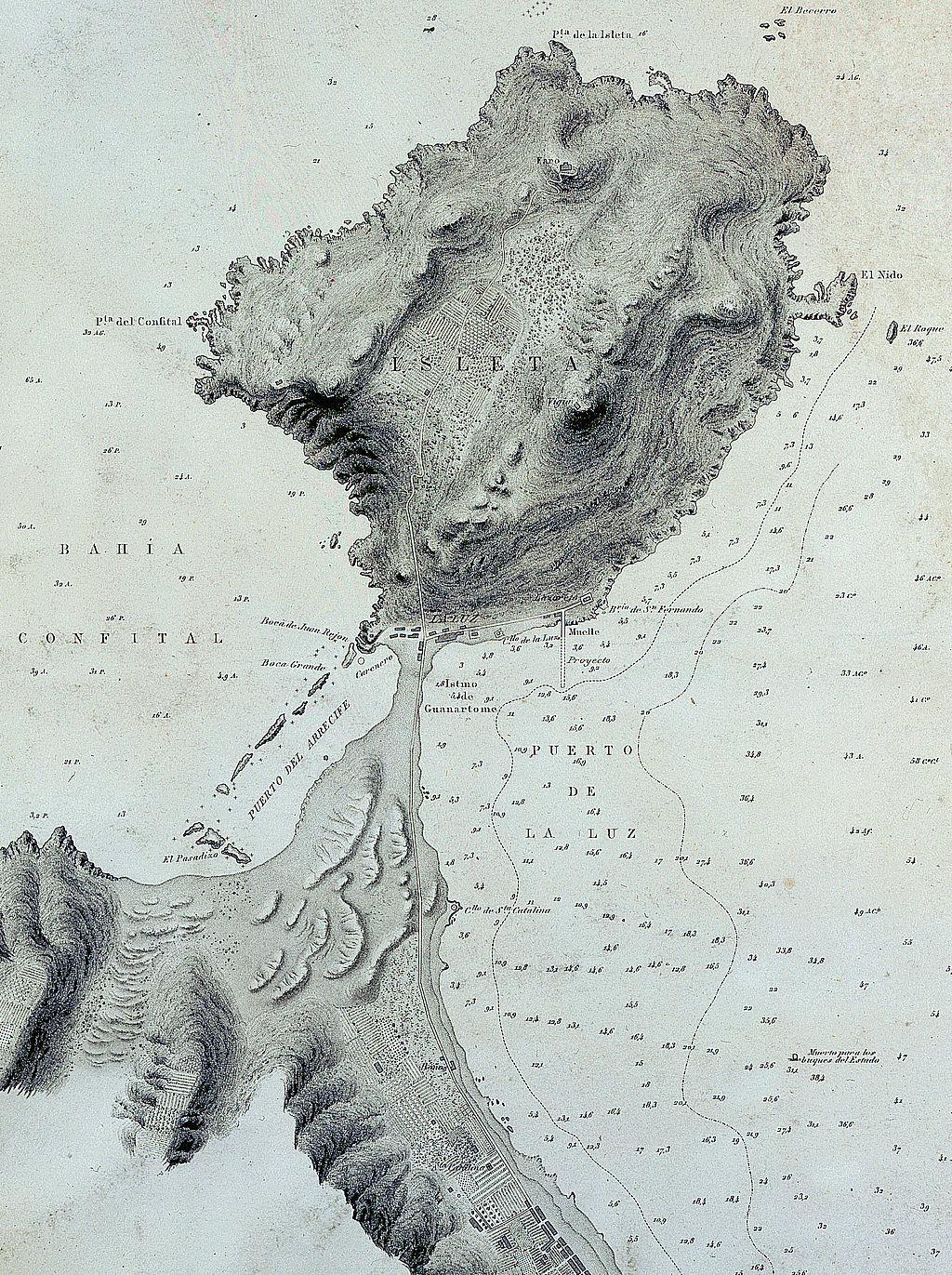 Isleta-peninsula-Gran-Canaria-Old-Map-1879