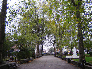 Islington Green - Islington Green looking south.