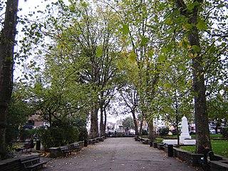 Islington Green Park in Islington, London