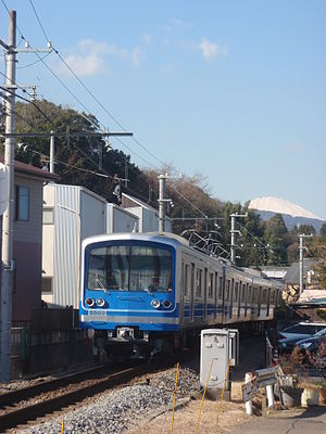 Izu Hakone Railway Daiyuzan Line and Mt Fuji.jpg