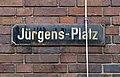Jürgens-Platz Straßenschild am Gebäude Jürgensplatz 1, Düsseldorf-Unterbilk.jpg