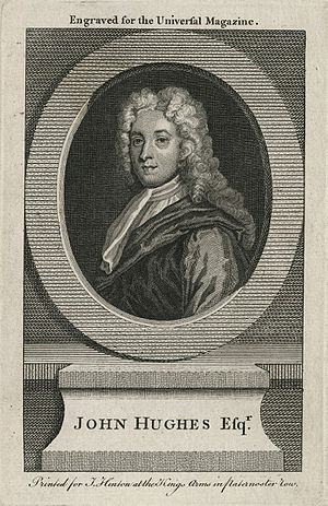 John Hughes (poet) - An engraving after Godfrey Kneller's portrait of the poet
