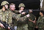 JGSDF soldiers at Camp Kinser 11-28-07