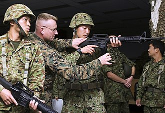 United States Forces Japan - JGSDF soldiers at Camp Kinser