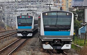 主力車両のE233系1000番台