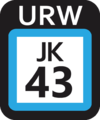 JR JK-43 station number.png