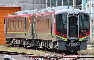 JR Shikoku 2700 series Diesel multiple unit train operated in Japan by JR Shikoku