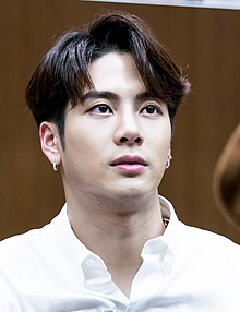 Jackson Wang at a fansigning event in Yongsan, 1 April 2018 01.jpg