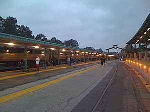 Jacksonville Amtrak station train 91 stop.jpg