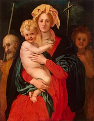 The Virgin and Child with St Joseph and St John the Baptist