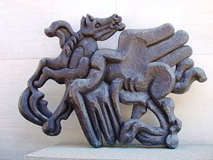 Bellerophon Taming Pegasus - Image: Jacques Lipchitz, Birth of the Muses (1944 1950), MIT Campus