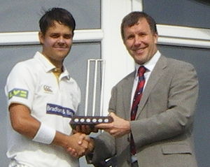 Jacques Rudolph - Rudolph (left) receiving the 2008 Yorkshire Player of the Year award.