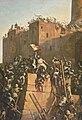 Jacques de Molay Grand Maitre de l Ordre du Temple prend Jerusalem 1299 detail flag corr.jpg