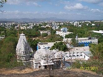 Māllīnātha - Image: Jain Mandir from Hilltop panoramio