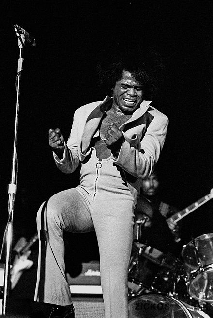 James Brown was critical in the transition of rhythm and blues to soul music and pioneering funk music. James Brown Live Hamburg 1973 1702730029.jpg