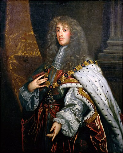 James II and VII; despite inheriting the throne with substantial support in 1685, by 1688 James had alienated the vast majority. James II by Peter Lely.jpg