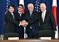 James Mattis,Rex Tillerson,Itsunori Onodera,Tarō Kōno.jpg