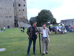 Ironclad (film) - James Purefoy and Jamie Foreman at a 2011 screening of Ironclad at Rochester Castle