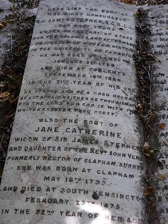 James Stephen (civil servant) - Monument detail, Kensal Green Cemetery
