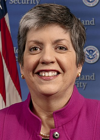 United States Secretary of Homeland Security - Image: Janet Napolitano official portrait (cropped)