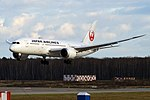Japan Airlines, JA844J, Boeing 787-8 Dreamliner (45670061281).jpg
