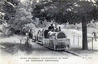 Jardin d'Acclimatation railway - The Jardin d'acclimatation railway, 1920.