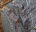 Jaspilite banded iron formation (Soudan Iron-Formation, Neoarchean, ~2.69 Ga; Rt. 169 roadcut between Soudan & Robinson, Minnesota, USA) 2 (18417609414).jpg