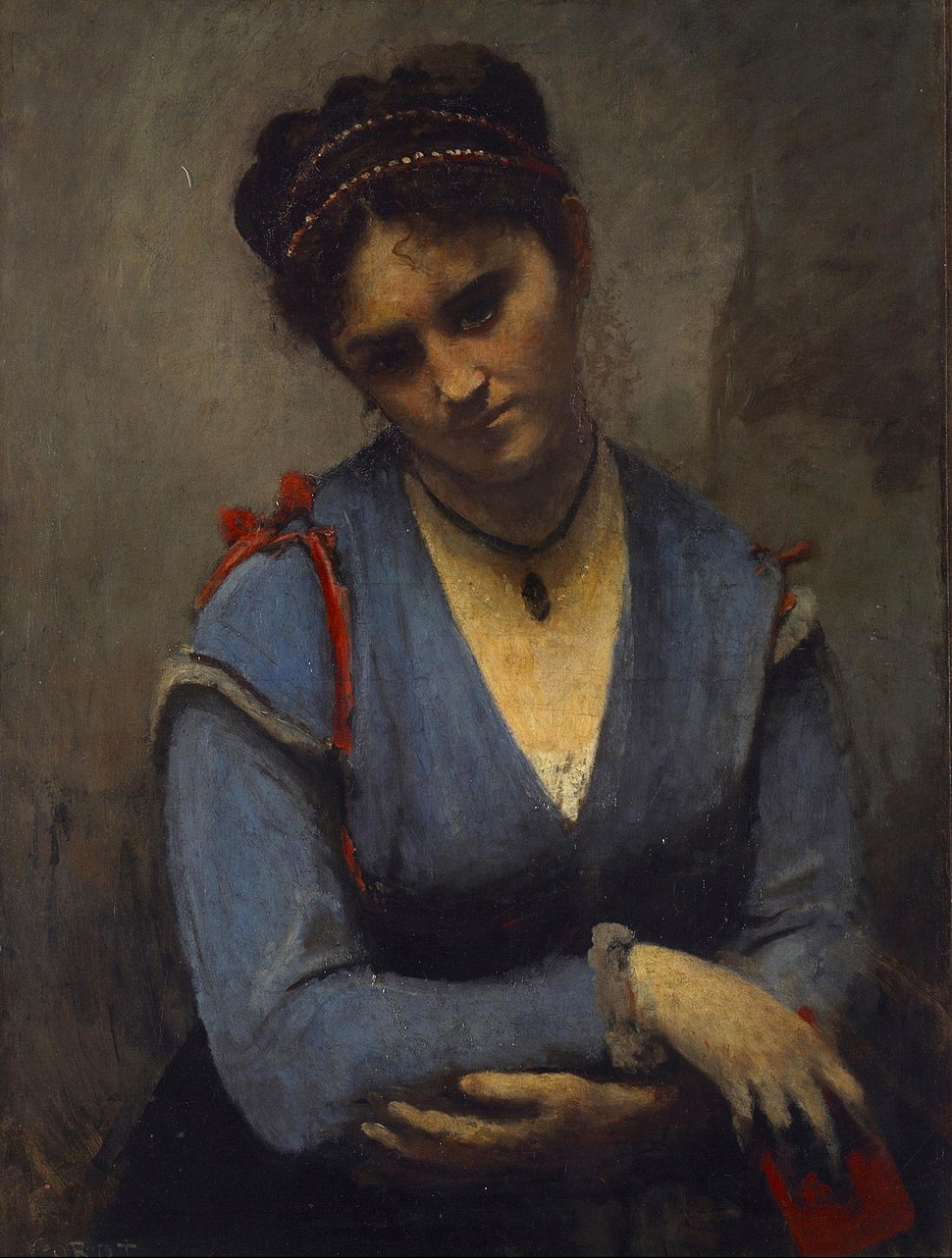 Jean Baptiste Camille - Portrait of Mariette Gambay