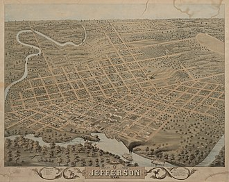 Jefferson, Texas - Image: Jefferson, Texas in 1872