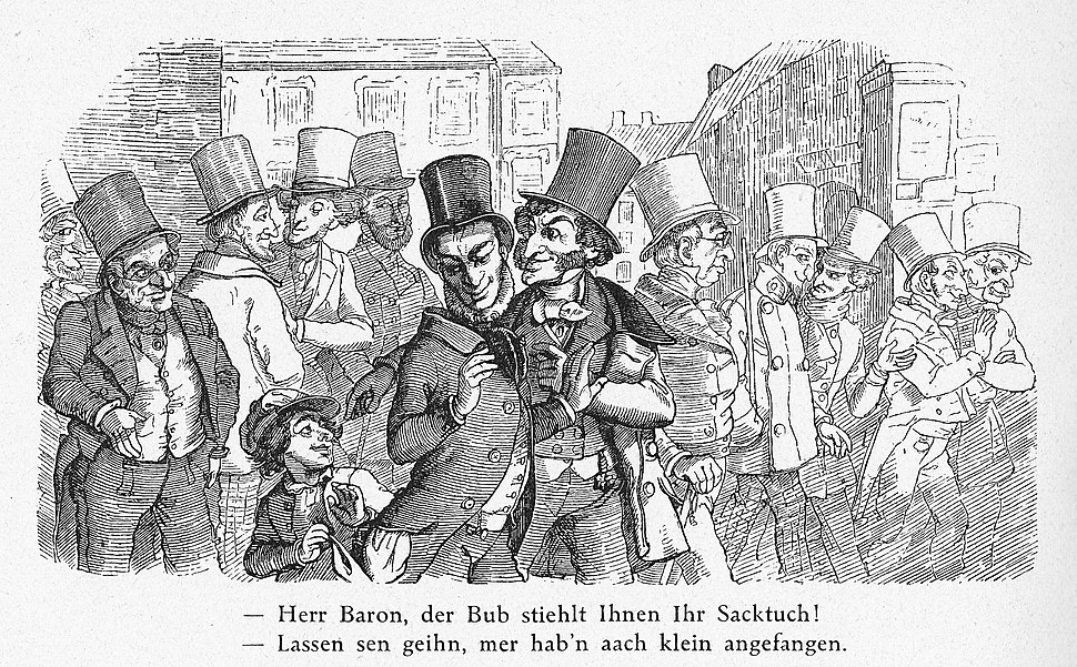 Jewish speculators caricature, 1851