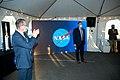 Jim Bridenstine and Rick Gilbrech at guest event following SLS Green Run test.jpg