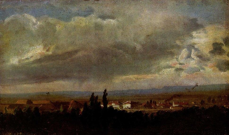 Johan Christian Claussen Dahl - View of an Approaching Thunderstorm - Hamburger Kunsthalle