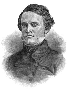 A man with thick, dark hair wearing a high-collared white shirt under a black jacket and tie. Black and white sketch.