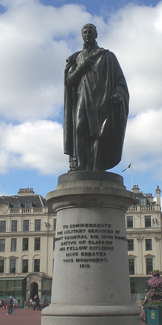 John Moore (British Army officer) - Monument in Glasgow