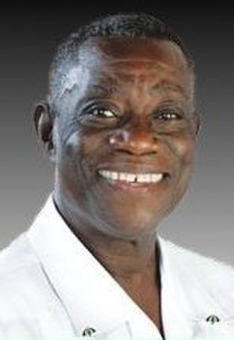 Ghanaian general election, 2008 - Image: John Atta Mills election poster (cropped)
