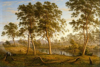 John Glover (artist) - Natives on the Ouse River, Van Diemen's Land, 1838, Art Gallery of New South Wales