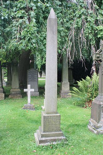 James Burton (Egyptologist) - John Haliburton's grave, Dean Cemetery