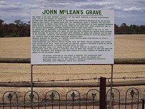 Dan Morgan (bushranger) - John McLean's Grave