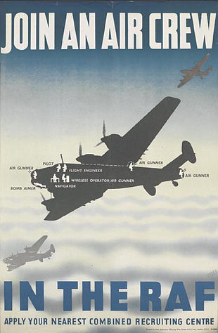 7317e2b46ea108 RAF recruitment poster featuring the Handley Page Halifax.