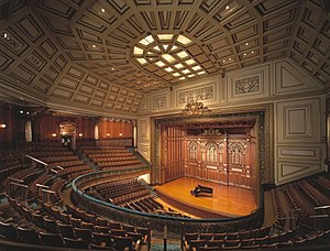 New England Conservatory of Music - Jordan Hall NEC's principal performance space