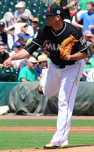 José Fernández (pitcher) - Fernández pitching for the Miami Marlins in spring training, 2016