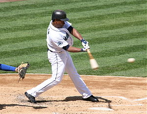 José Guillén - Guillén batting for the Seattle Mariners in 2007