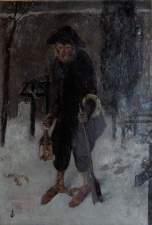 Joseph Stevens (painter) - Croque-mort (oil on canvas)
