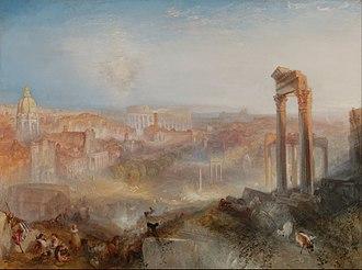 Modern Rome – Campo Vaccino - Image: Joseph Mallord William Turner (British Modern Rome Campo Vaccino Google Art Project