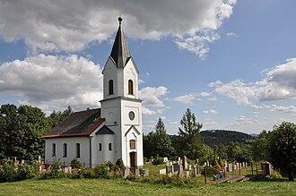 Jestřabí v Krkonoších - Protestant church in Křížlice part of the village