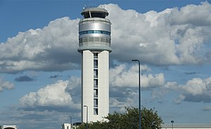 John Glenn Columbus International Airport - Current control tower, completed in 2004